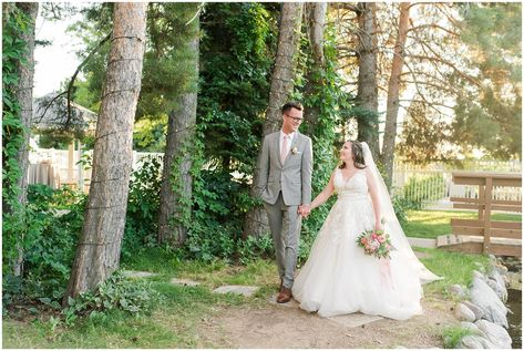 Bride and groom portraits in vines and lodge pole pines | Oak Hills Utah Dusty Rose and Gray Summer Wedding | Jessie and Dallin Photography #utahwedding #utahsummerwedding #summerwedding #mountainwedding #rockymountainwedding #blushandgraywedding #blushandgray #oakhillsutah #utahweddingvenue