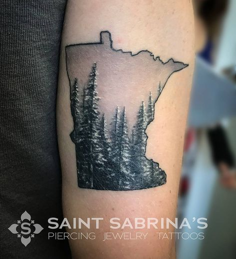 """St Sabrina's Piercing + Tattoo on Instagram: """"This beautiful summer day seems like the perfect time to celebrate Minnesota with this piece by @tattoosbybleach."""""""