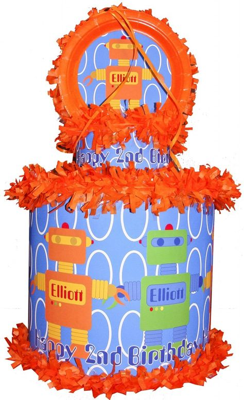 World of Pinatas - Robot Personalized Pinata, $39.99 (http://www.worldofpinatas.com/robot-personalized-pinata/)
