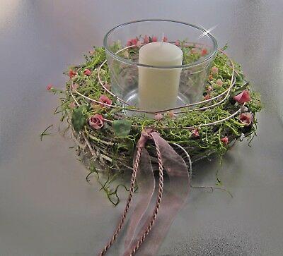 Windlicht Astekranz Kerzenhalter Terasse Garten Muttertag Tischdeko 25 Cm Ebay Glaser Dekorieren Sommer Windlicht Kranz Ideen