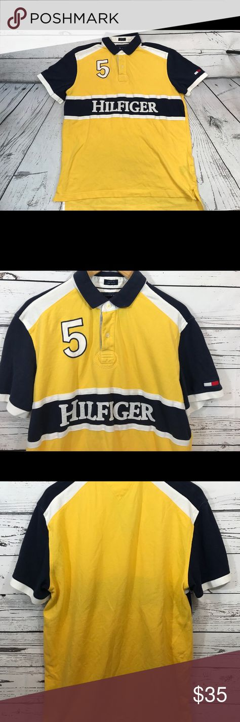 341f90c4 VTG 90s Tommy Hilfiger Polo Size XL Vintage 90s Tommy Hilfiger Mens Size XL  Block Color