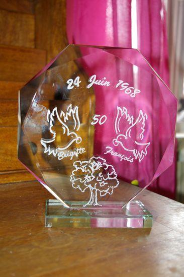 Trophée Verrecadeaumariagepersonnalisé Gravure Sur