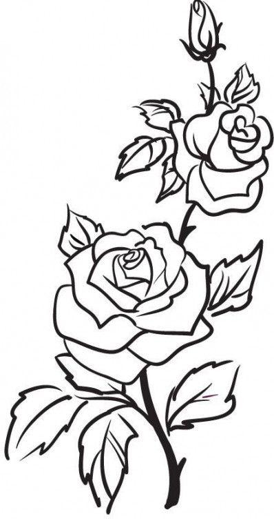 rose zum abpausen