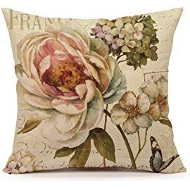 """18/"""" Vintage Flower Pillow Case Cover Sofa Couch Cushion Cover Home Decor Gift"""