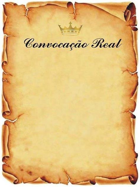 Convite Convocação Real – 9 Modelos para Imprimir – Modelos de Convite