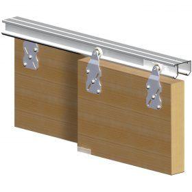 rail pour porte coulissante dtournement de meubles ikea pinterest lofts - Rail Porte Coulissante Suspendue Leroy Merlin