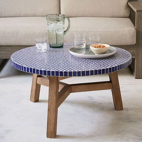 West Elm Mosaic Outdoor Coffee Table