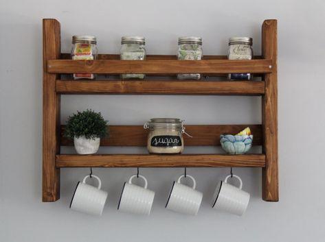 Coffee Mug Rack With Storage Kitchen Storage Potential Projects