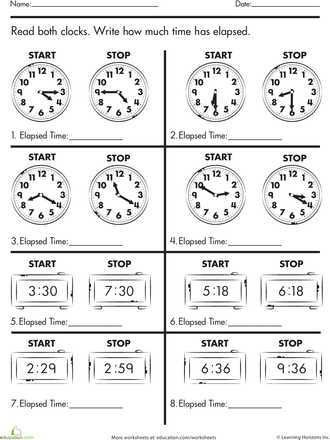 Digital Clock Worksheets Along With Calculate Elapsed Time Time Worksheets Elapsed Time Worksheets Math Time Digital clock worksheets for grade 3