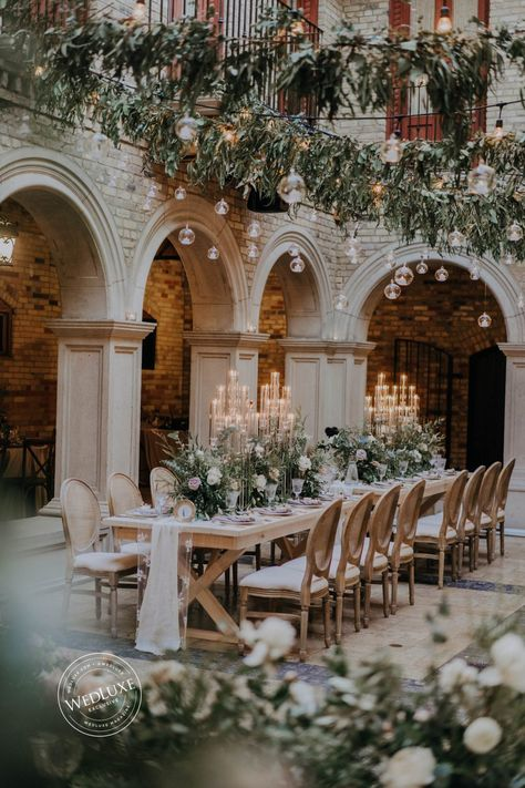 Italian Courtyard in 2020 (With images) Vintage Wedding Theme, Wedding Themes, Floral Wedding, Wedding Venues, Wedding Decorations, Black Tie Wedding, Vintage Weddings, Wedding Ideas, Italian Courtyard