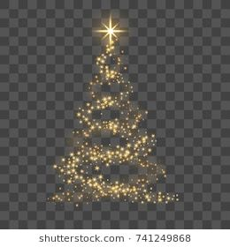 Christmas Tree On Transparent Background Gold Christmas Tree As Symbol Of Happy New Year Merry Christmas Christmas Images Transparent Background Tree Stencil