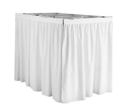 Extended Dorm Sized Bed Skirt Panel With Ties White For Raised Or Lofted Beds Dorm Room Bedding Lofted Dorm Beds Dorm Bed Skirts