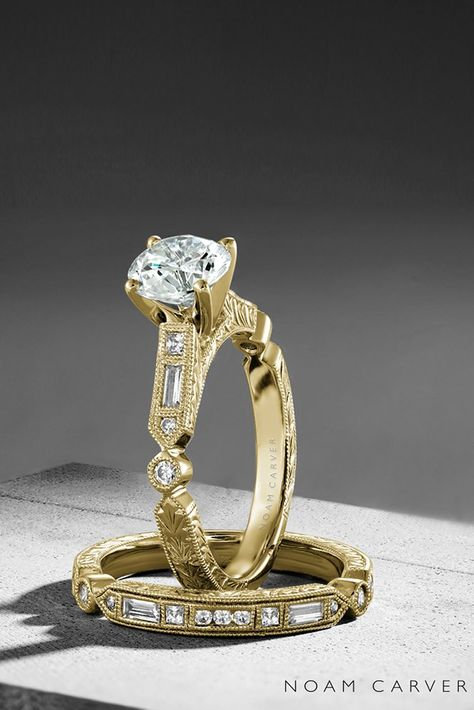 noam carver engagement rings solitaire engagement rings yellow gold engagement rings noam carver