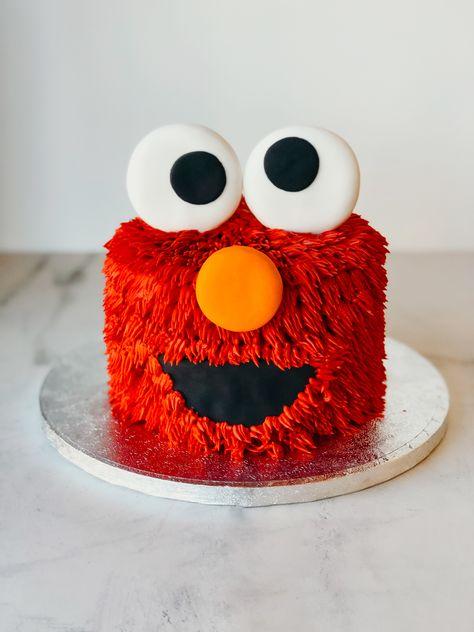 Diy Elmo Birthday Cake, Elmo First Birthday, Baby Boy 1st Birthday Party, Elmo Party, Mickey Party, Dinosaur Party, Dinosaur Birthday, Half Birthday, Birthday Ideas