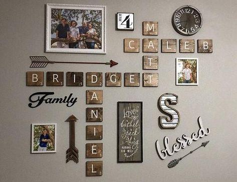 Oversized Scrabble Tiles, Blocks, Family, Names, Custom Name on Wall, Wall Art, Family Crest, 3D Scrabble Tiles, Modern Farmhouse Decor