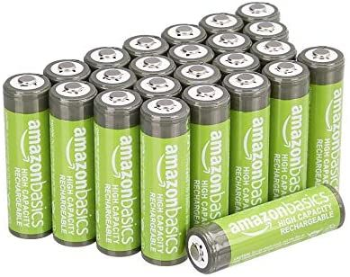 Amazon Com Amazonbasics Aa High Capacity Ni Mh Rechargeable Batteries 2400 Mah Pre Charged Pack Of 24 Electron Rechargeable Batteries Recharge Batteries