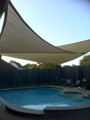 Amazon Com New Prosource Sand Color 16 Oversized Sun Shade Sail Shade Canopy Sun Shelter Shade Sail Pool Shade Sun Sail Shade