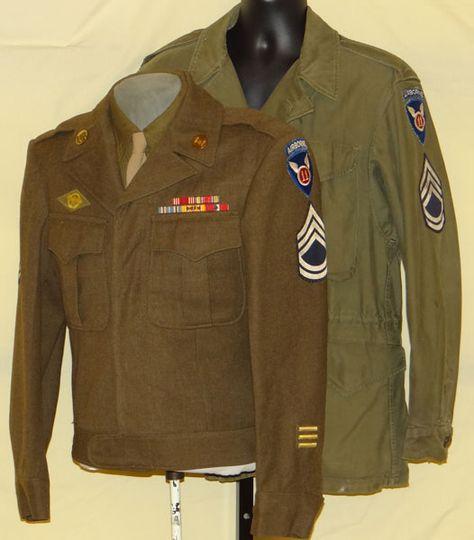 WW II 11th Airborne IKE Jacket & M43 Field Jacket