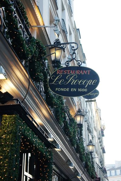 Saint Germain des Prés, 'Le procope', the oldest restaurant of Paris, rue de l'Ancienne Comédie, Paris VI