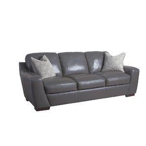 Hagan Leather Sofa by Latitude Run Top Reviews | Living room ...