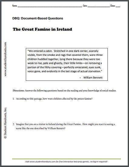 Republic of IRELAND - Free printable map worksheet with ten ...