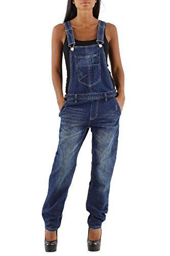 huge discount 14a04 e8ff7 Damen Jeans Hose Baggy Boyfriend Latzhose Latzjeans Jumpsuit ...