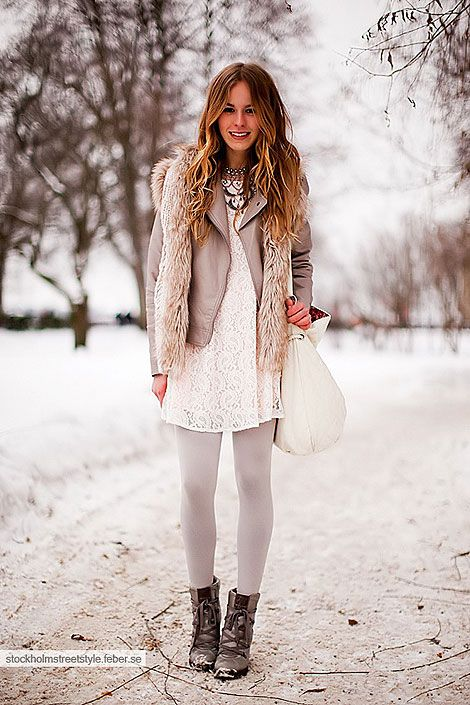lace dress in the winter?? YES!