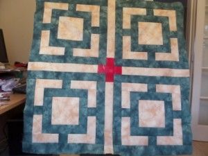 Florence floor tile quilt one pattern and tutorial from Ludlow Quilt and Sew