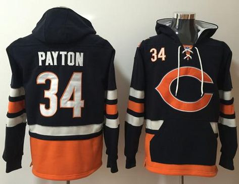 Wholesale Nike Bears #34 Walter Payton Navy BlueOrange Name & Number Pullover  for sale
