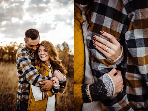 fall outfit inspiration, coordinating outfit inspiration for engagement photos, engagement photo ideas