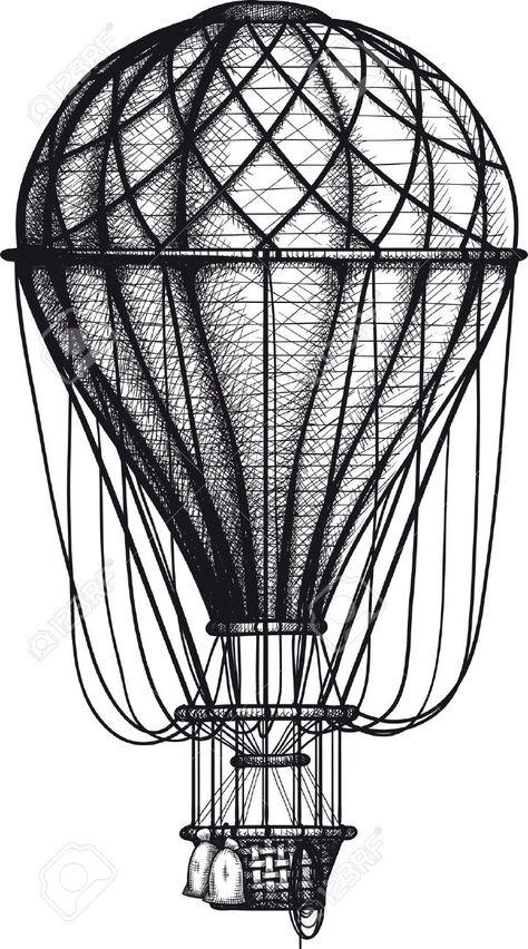 copyright free victorian hot air balloon - Google-søgning