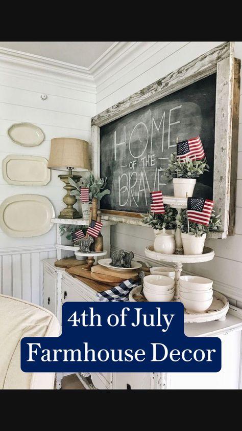 4th of July  Farmhouse Decor
