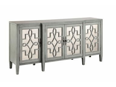 Shop For Stein World 4 Door Mirrored Credenza In Sage Gray, 13152, And Other
