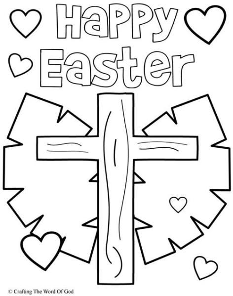 Happy Easter 3 Coloring Page Easter Colouring Easter Coloring Pages Jesus Coloring Pages