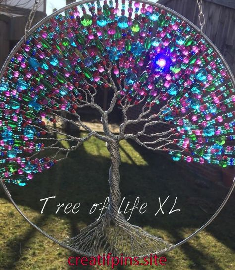 Extra large tree of life with glass beats   Extra large tree of life with glass beats