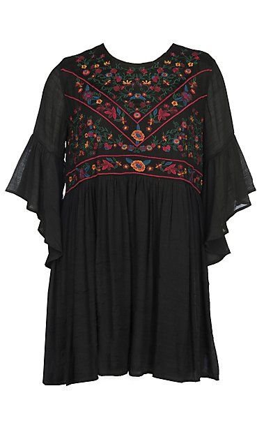 James C Women\'s Double Border Printed 3/4 Sleeve Dress ...