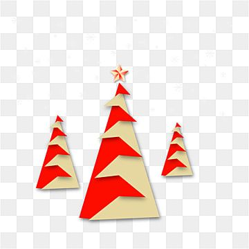 Christmas Tree Origami Style Red Color And Snowflakes Png And Vector Christmas Origami Red Christmas Background Merry Christmas Typography