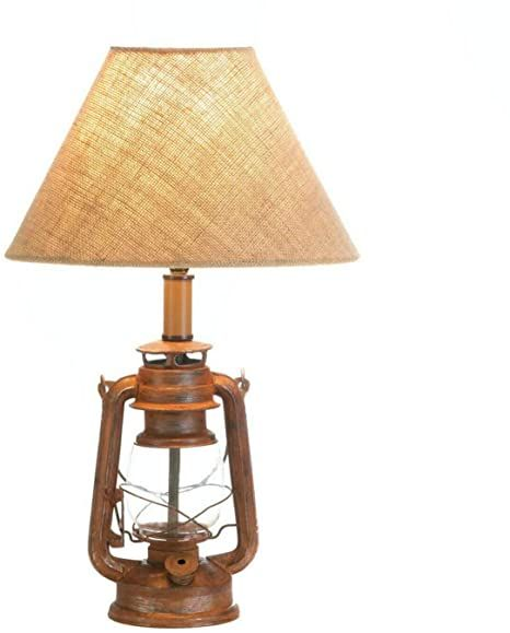 Tom Amp Co Vintage Camping Lantern Table Lamp In 2021 Lantern Table Lamp Lamp Table Lamp