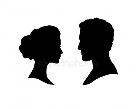 Couple Faces Silhouette Couple Facing Each Other Man And Woman Romantic Profil Sponsored Si Woman Face Silhouette Silhouette Man Silhouette Illustration