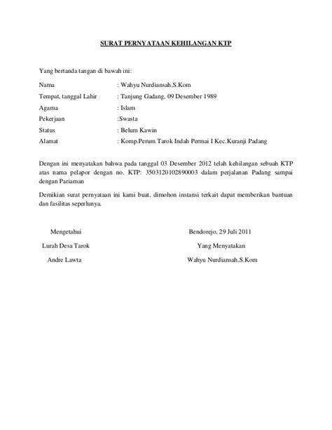 Contoh Surat Pernyataan Kesalahan Dalam Bekerja Contoh