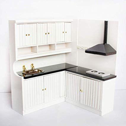 1//12 Dollhouse Miniature Furniture Kitchen Dining Cabinet Display Shelf C5X8