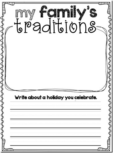 family traditions i had to write We can get to know about various kinds of family from a family essay such as nuclear family joint family etc essays on family essay to write a family.