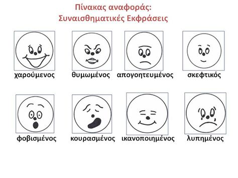 Δραστηριότητες, παιδαγωγικό και εποπτικό υλικό για το Νηπιαγωγείο: Τα συναισθήματα στο Νηπιαγωγείο