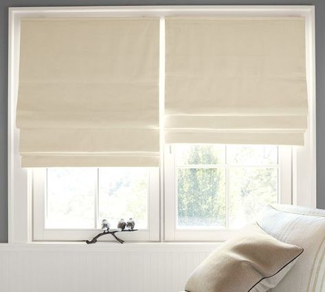 """Cameron Cotton Cordless Roman Shade with Blackout Lining 