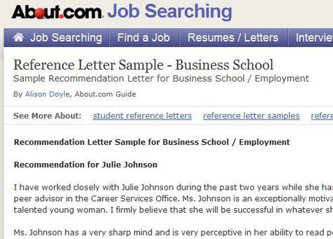 Recommendation Letter Sample for Business School Letter sample - reference letter for school