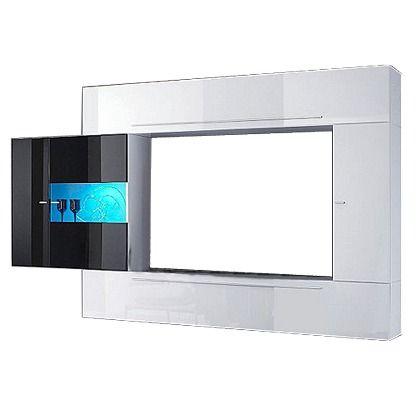 Stylische weiße Media-TV-Wand Diese moderne TV-Wand wird zum - tv wand