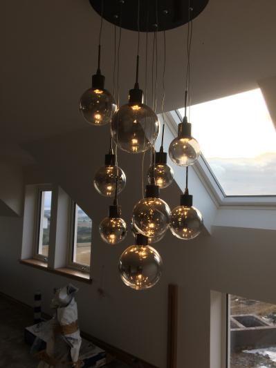 John Lewis & Partners Dano LED Ombre Glass Ceiling Light, 10