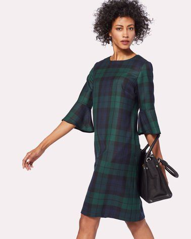 Pendleton Womens Maya Wool Plaid Dress