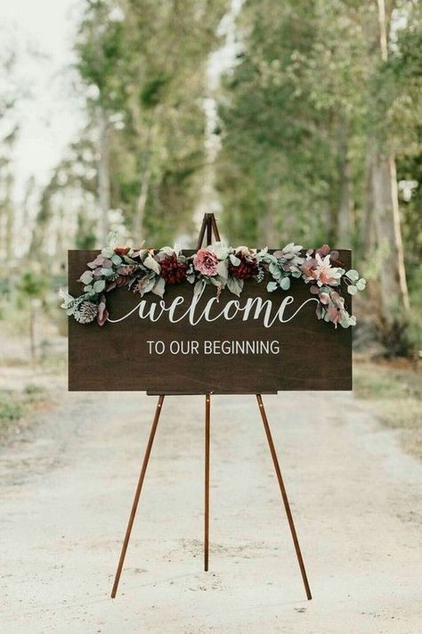 Phenomenal 24 Creative Wedding Entrance Walkway Decor Ideas Assess the amount of the floor… - Cranberry Hued Winter Wedding With A Spectacular Ceremony Backdrop Chic Winter Wedding with a Tree Farm Ceremony Backdrop Wedding Ideas: Welcome to the next ch