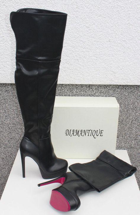 Weiß Runde Zehe Schnürung Stiletto Overknees Elegant Stiefel